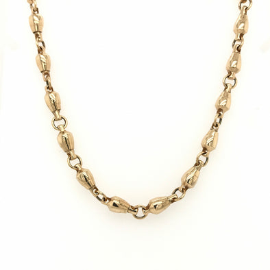 80Lb. Size Gold Rotating Barrel Swivel Necklace