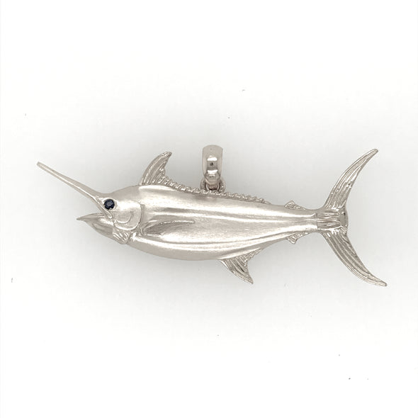 Sterling Silver Medium Grander Blue Marlin pendant
