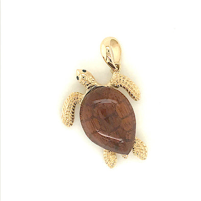 Logger Head Turtle with Teak Shell