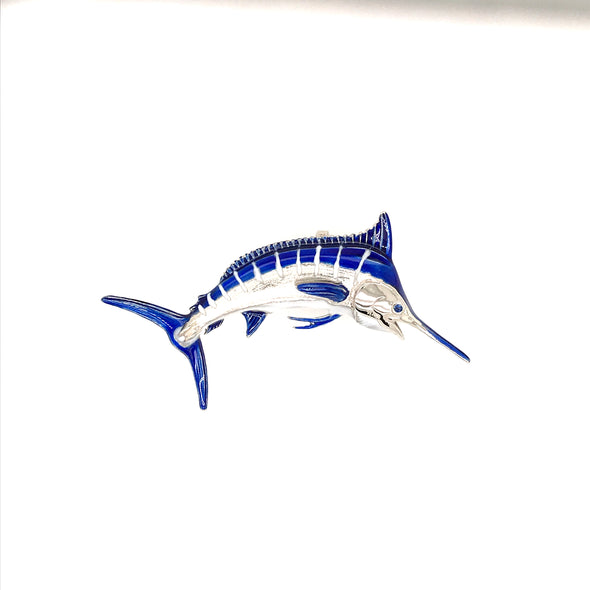 Medium Enameld Blue Marlin Pendant