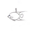 14K Gold Silhouette Angel Fish Pendant