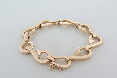 Large Gold Men's Fish Hook Bracelet.