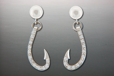 Diamond Hooks Dangle Earrings