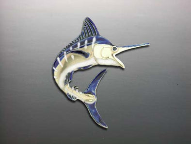 Enameld Jumping Blue Marlin