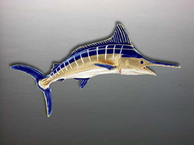 Enameled Blue Marlin Pendant