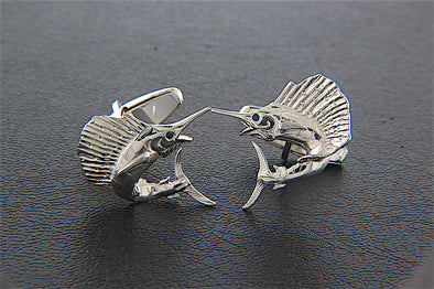 Sterling Silver Sailfish Cufflinks