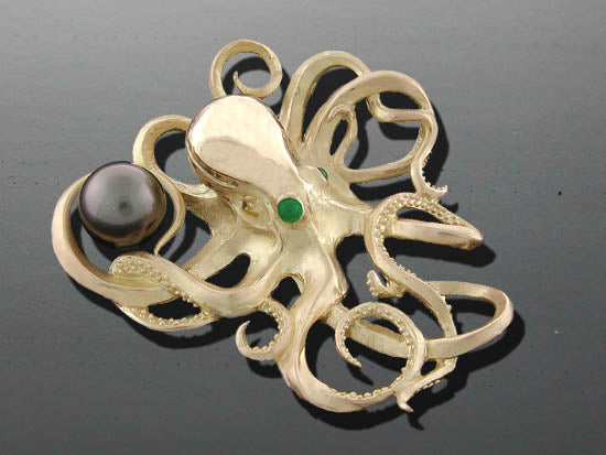 Octopus Pin Pendant