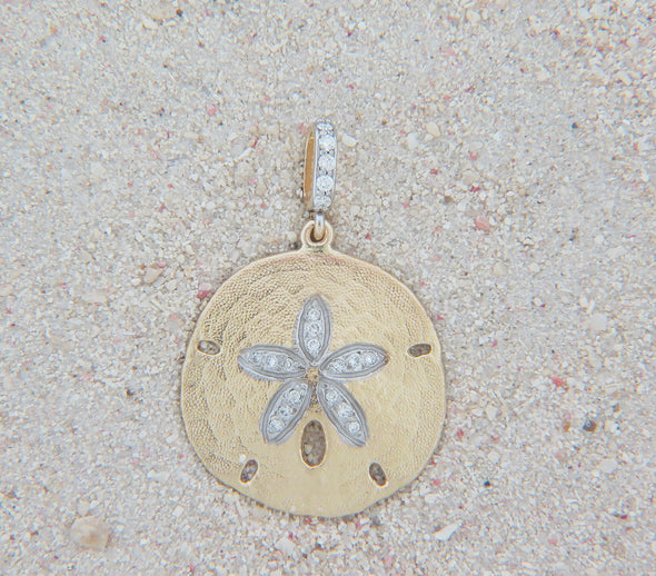 Diamond Sand Dollar Pendant.