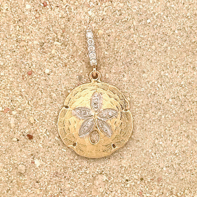 Small Diamond Sand Dollar Pendant