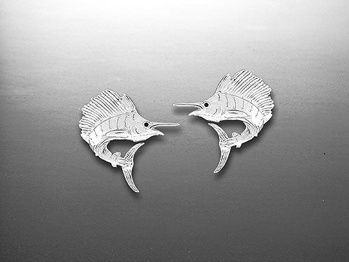 Silver Sailfish Studs Earrings