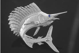 Silver Large Sailfish Pendant