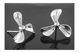 Silver Propeller Earrings