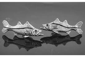 Silver Snook Earrings
