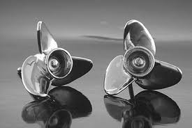 Silver Speed Propeller Earrings