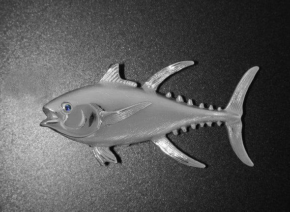 Silver Yellowfin Tuna Pendant