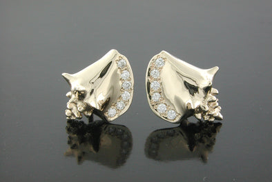 Conch Shell Diamond Earrings