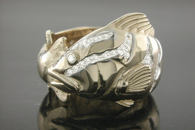 Diamond Nassau Grouper Wrap Ring