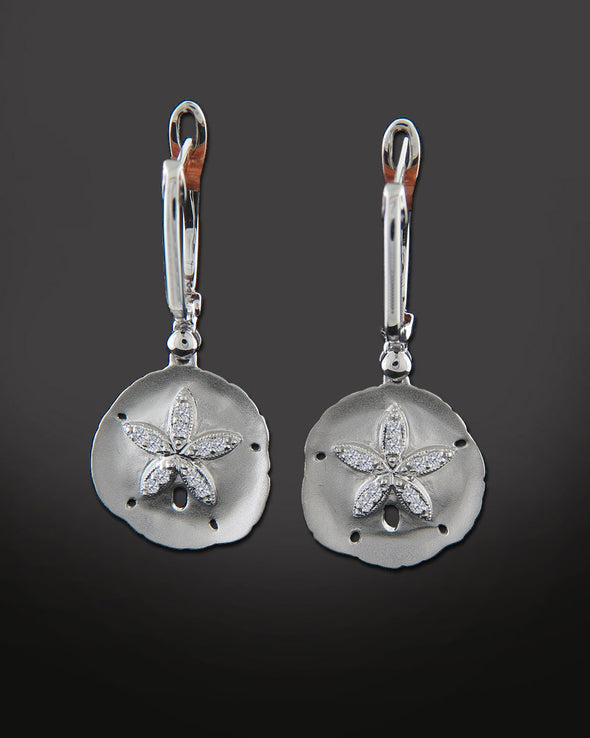 Sand Dollar Lever Back Earrings