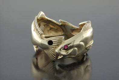Double Redfish Ring