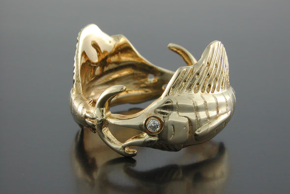 Double Sailfish Ring