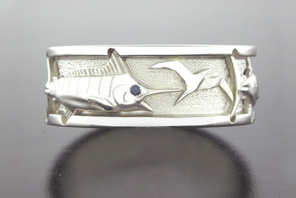 Grand Slam Ring (Blue Marlin & Friget Bird Shown)