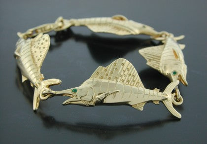 "Large "" Balling Bait "" Sailfish Bracelet"