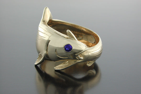 Large Bonefish Wrap Ring