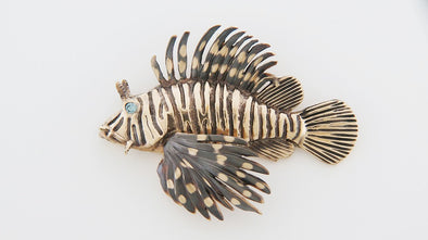 Gold Lionfish Pendant