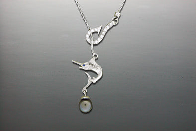 Marlin Lariat Necklace