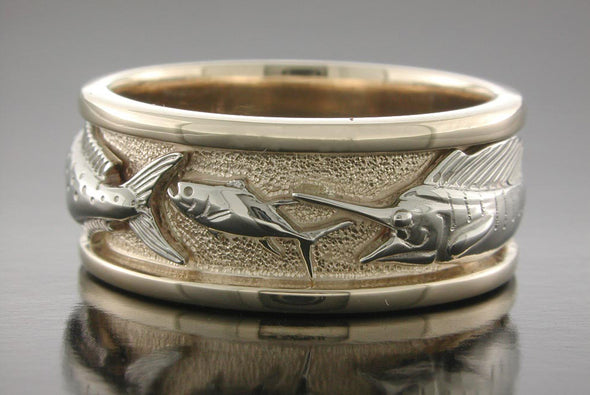 Grand Slam Ring (Sailfish Chasing Bait Fish Shown)