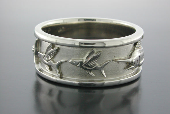 Grand Slam Ring (Marlin Chasing Flying Fish)