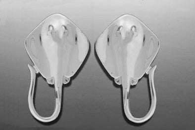 Sterling Silver Stingray Post back Earrings