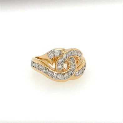 "Ladies Diamond ""Love Hooks"" Ring"