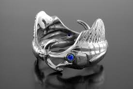 Silver Double Sailfish Ring