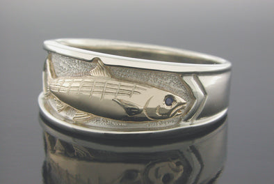 Single Bonefish Platform Ring