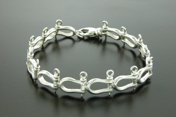 Small Sterling Silver Shackle Bracelet