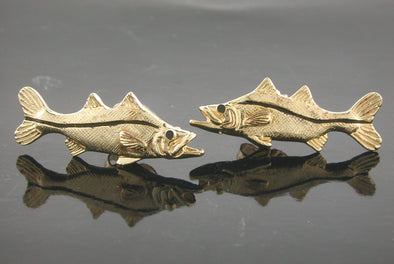 Small Snook Stud Earrings