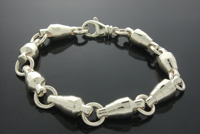 Sterling Silver #130lb. Rotating Barrel Swivel Bracelet