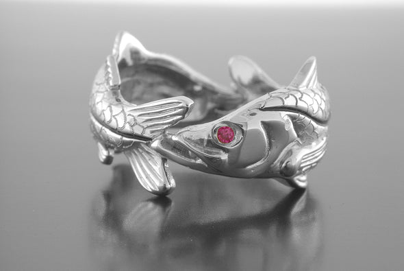 Silver Double Snook Ring
