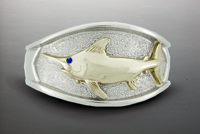 Single Fish Platform Ring (Swordfish Shown)