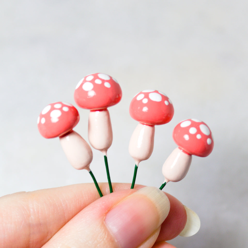 Coral Toadstools (Set of 4)