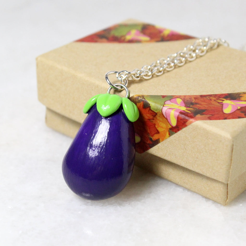 Eggplant Necklace