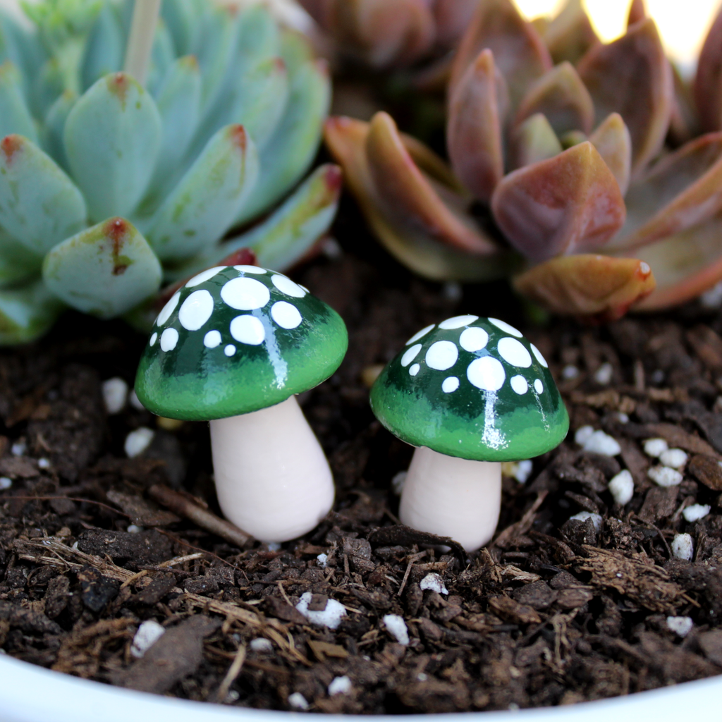 Evergreen Ombre Mushrooms (Set of 2)