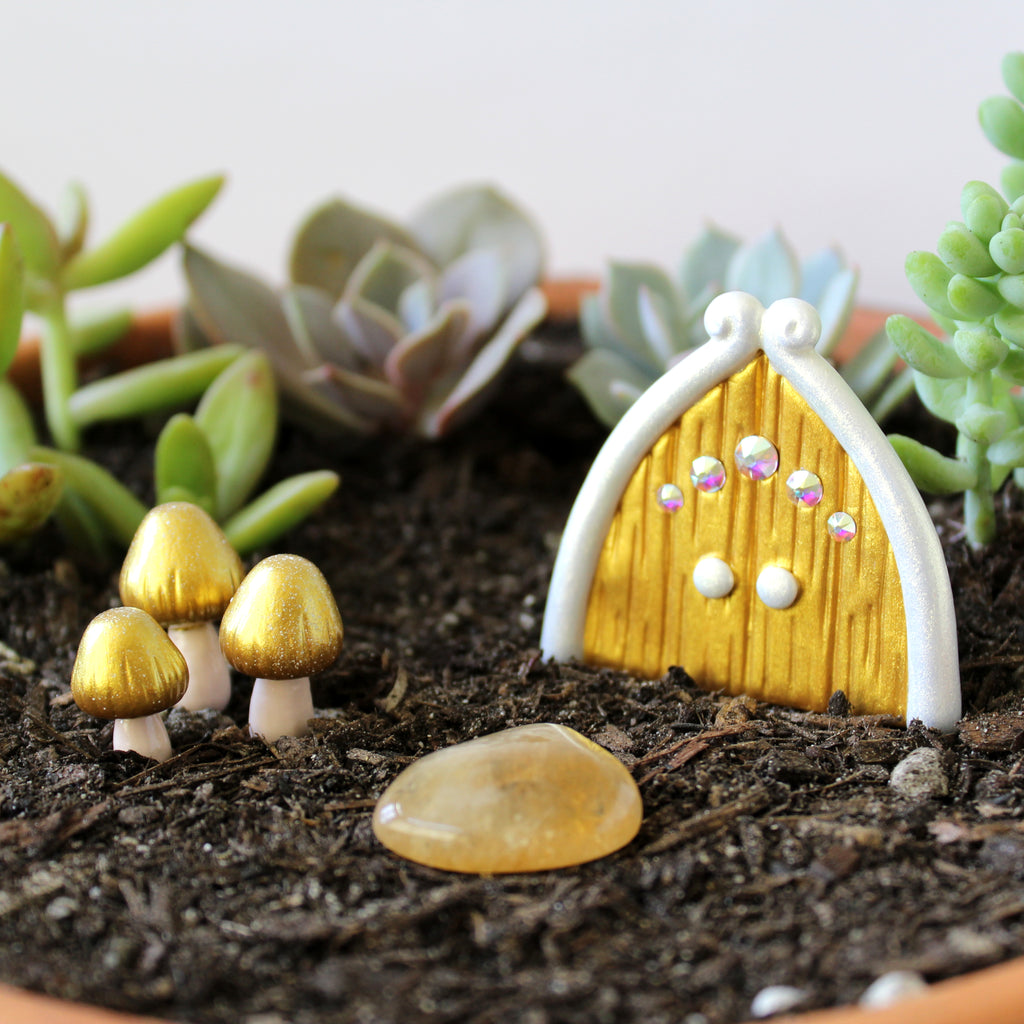 Golden Fairy Garden Kit