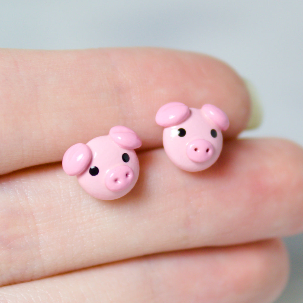 Pig Earrings