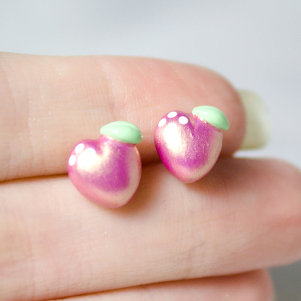 Pink Gold Peach Earrings