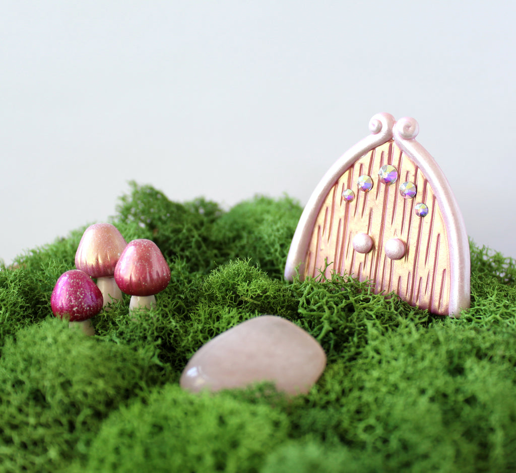 Pink Gold Fairy Garden Kit