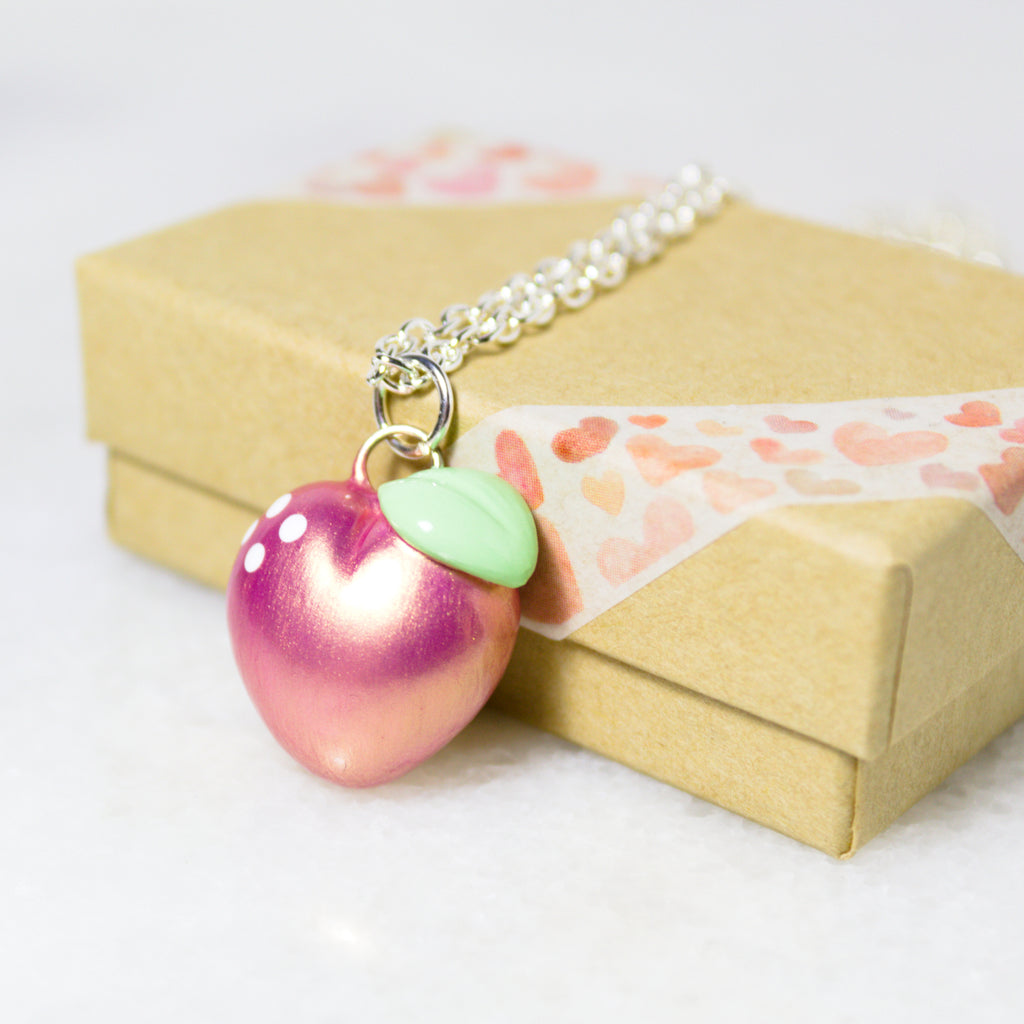 Pink Gold Peach Necklace