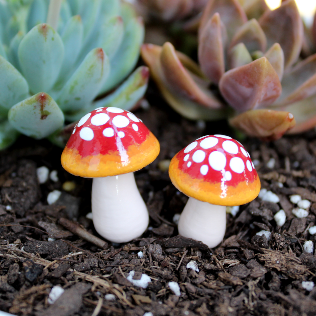 Flame Ombre Mushrooms (Set of 2)