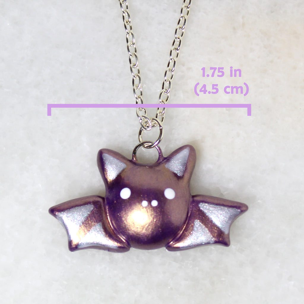 Violet Gold Bat Necklace